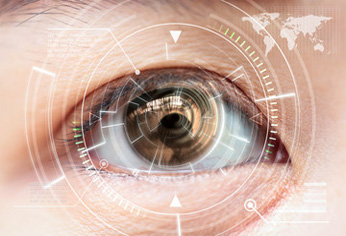 Futuristic Eye Scan