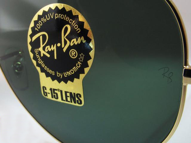 Image of Ray-ban UV label