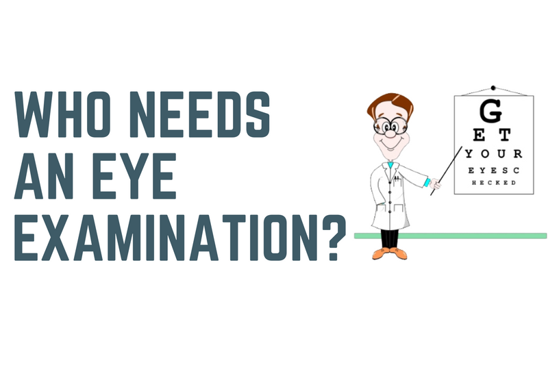 Who needs an eye examination?