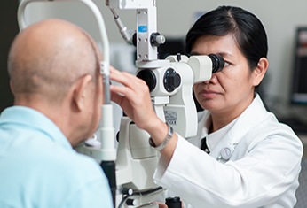 Image of a patient examined for cataracts.